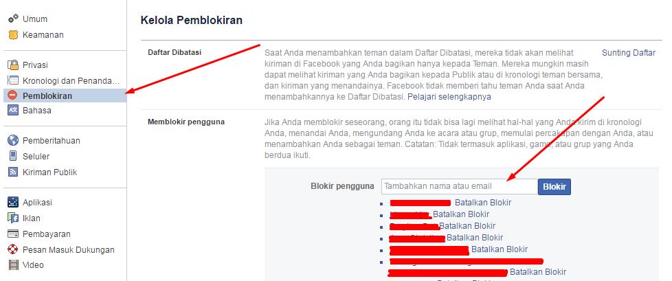 Tips memblokir orang di Facebook