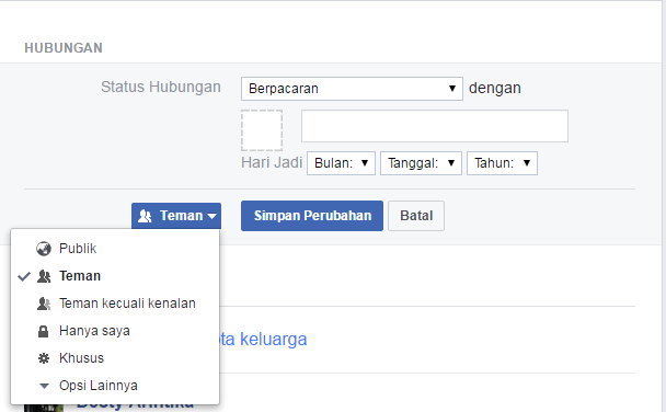 Trik memperlihatkan informasi serta data kontak pada orang tertentu di Facebook