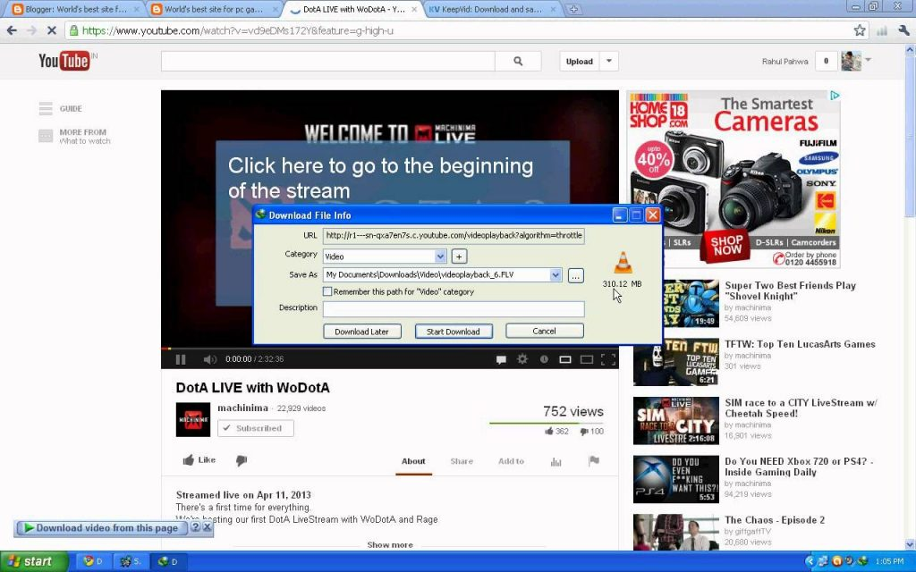 how to download video from facebook chrome