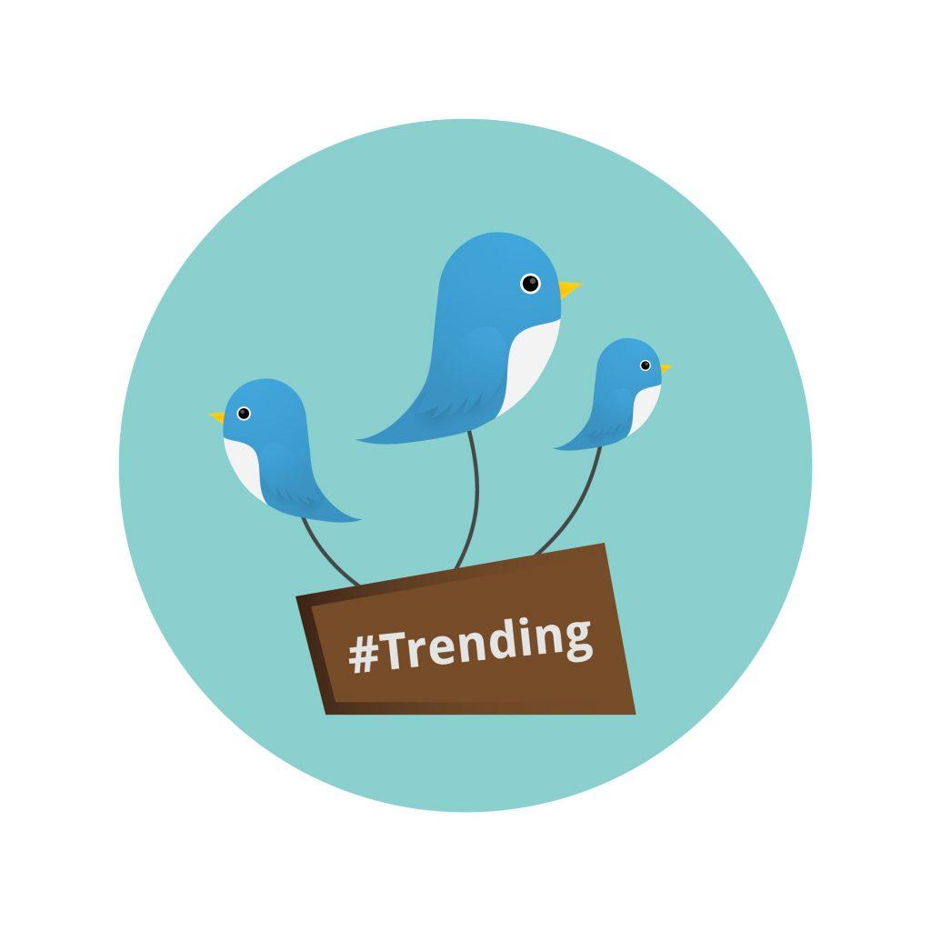 Gunakan hashtag twitter