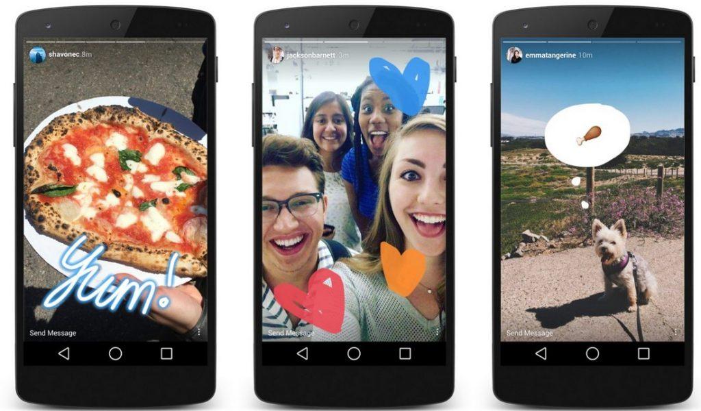 gunakan fitur Instagram stories