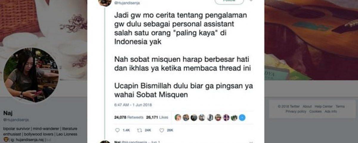 Thread di Twitter Yang Viral