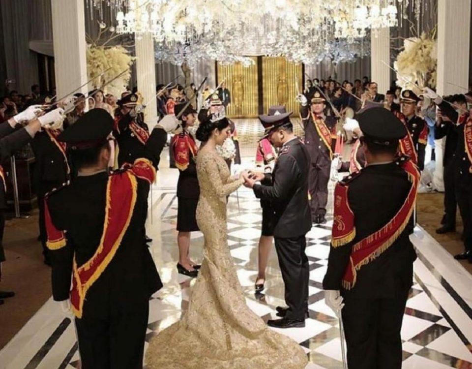 polisi gelar nikahan saat corona