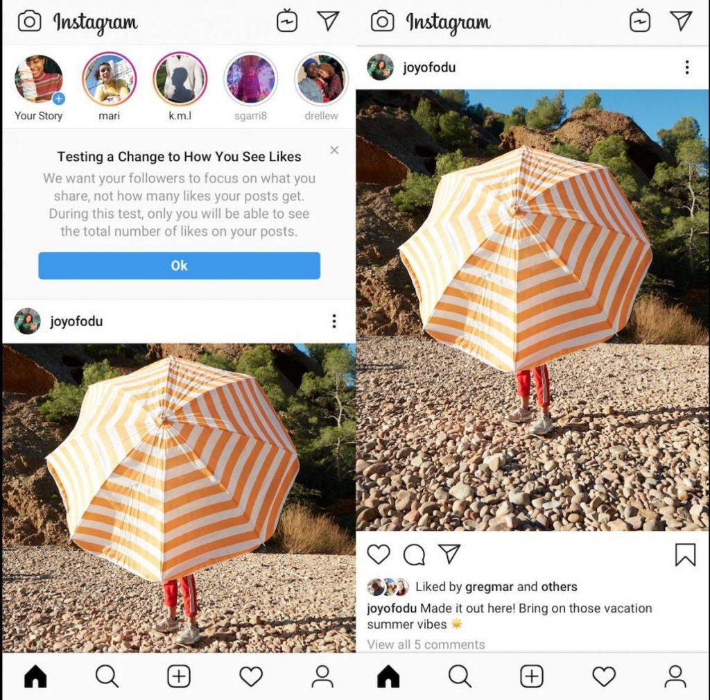 Alasan mengapa likes instagram hilang